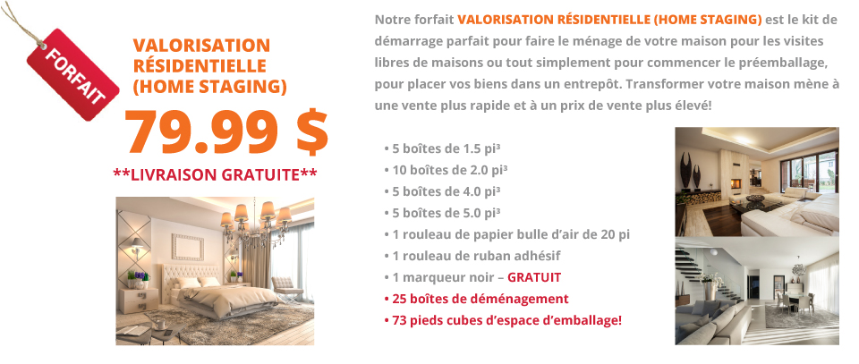 Valorisation Résidentielle (Home Staging)