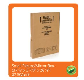 Small Picture/Mirror Box $7.50/unit