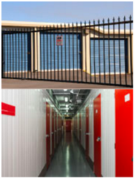 gated storage facility | interior of storage facility
