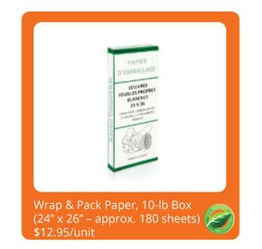 Wrap & Pack Paper 10 lb. Box , $ 11.95/unit