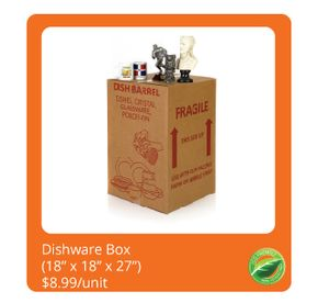 Dishware Box $8.99/unit