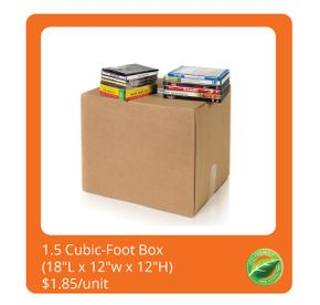 1.5 Cubic Foot Box $1.85/unit