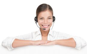Customer Service woman with headset