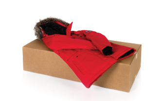 coat on top of closed box